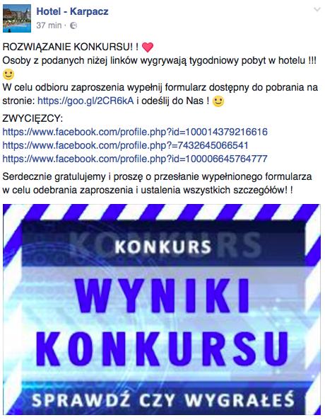 """Hotel Karpacz - """"wyniki konkursu"""""""