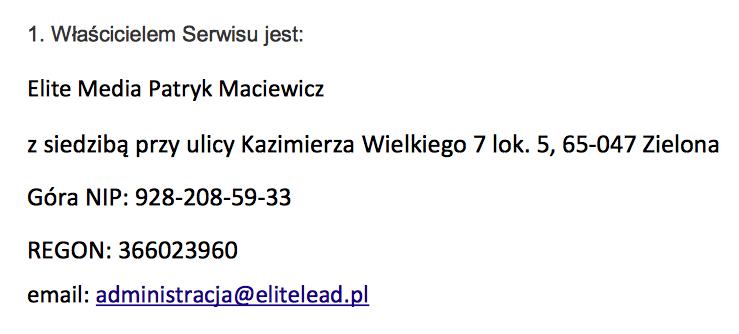 Elite Media Patryk Maciewicz
