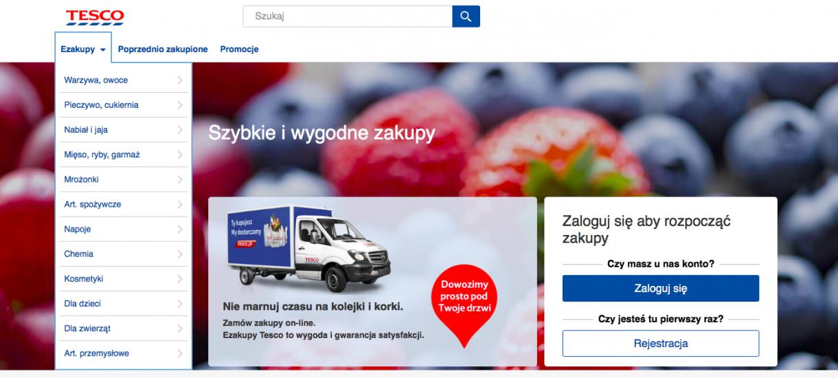 Tesco zamyka część swoich sklepów internetowych