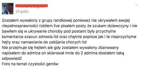 niepełnosprawni na Facebooku