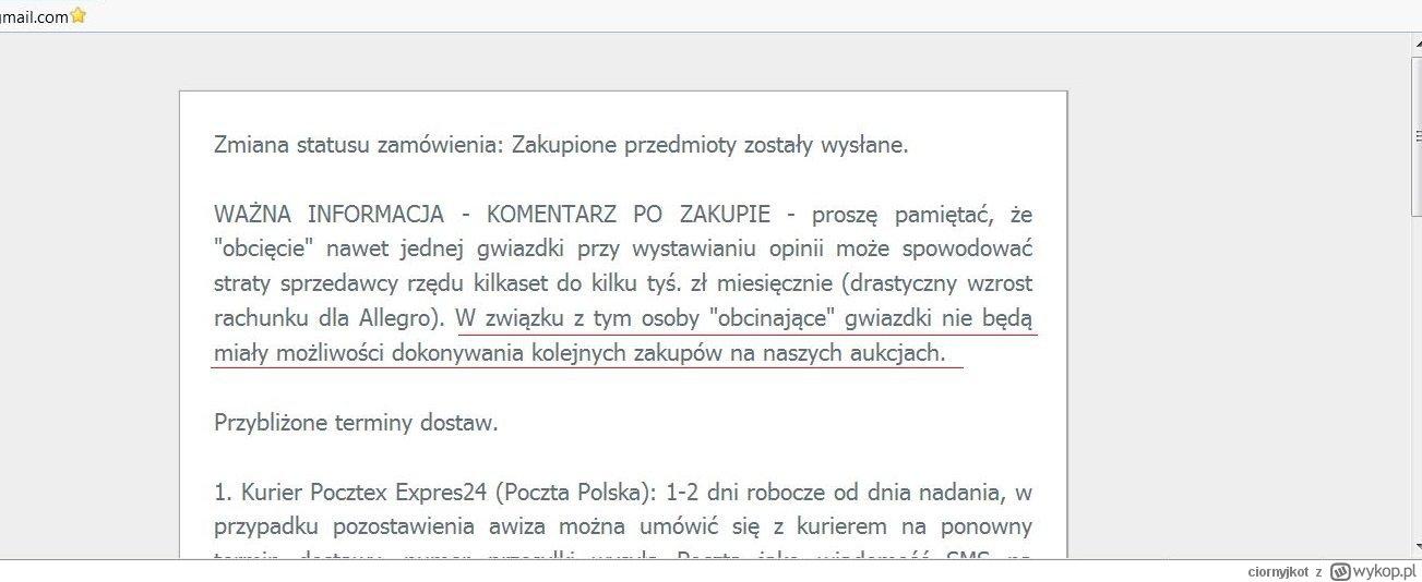 Albo 5 Gwiazdek Albo Ban Kolejny Allegrowicz Desperacko Walczy O Pozytywne Komentarze Znowu Prawo Wieje Mu W Oczy