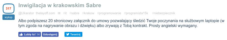 sabre na wykop.pl