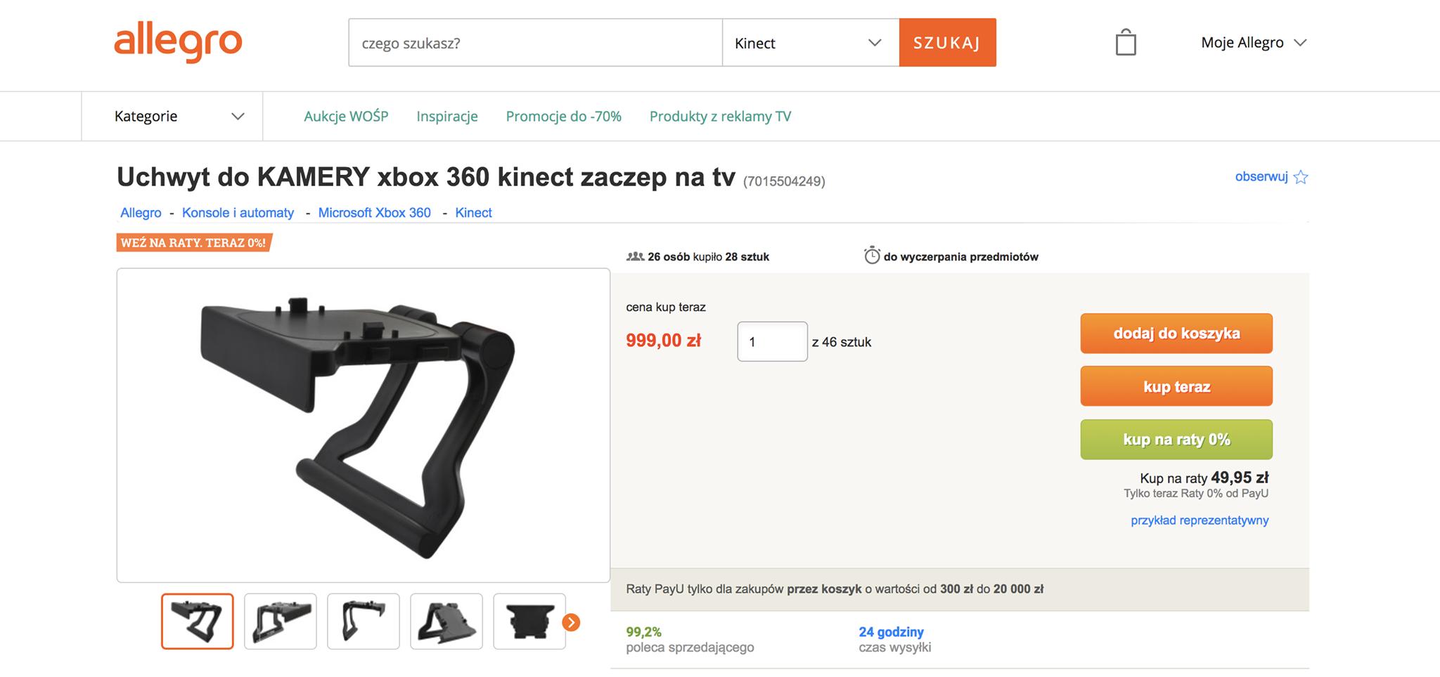 Przedziwna Aukcja Na Allegro Uchwyt O Wartosci 10 Zlotych Sprzedawany Jest Za 1000 Zlotych I Nie Brakuje Chetnych