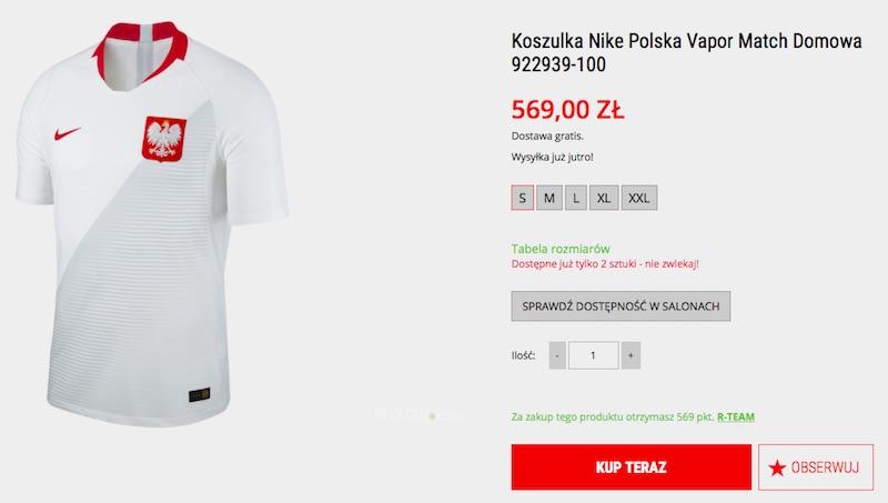 koszulki reprezentacji Polski - sklep