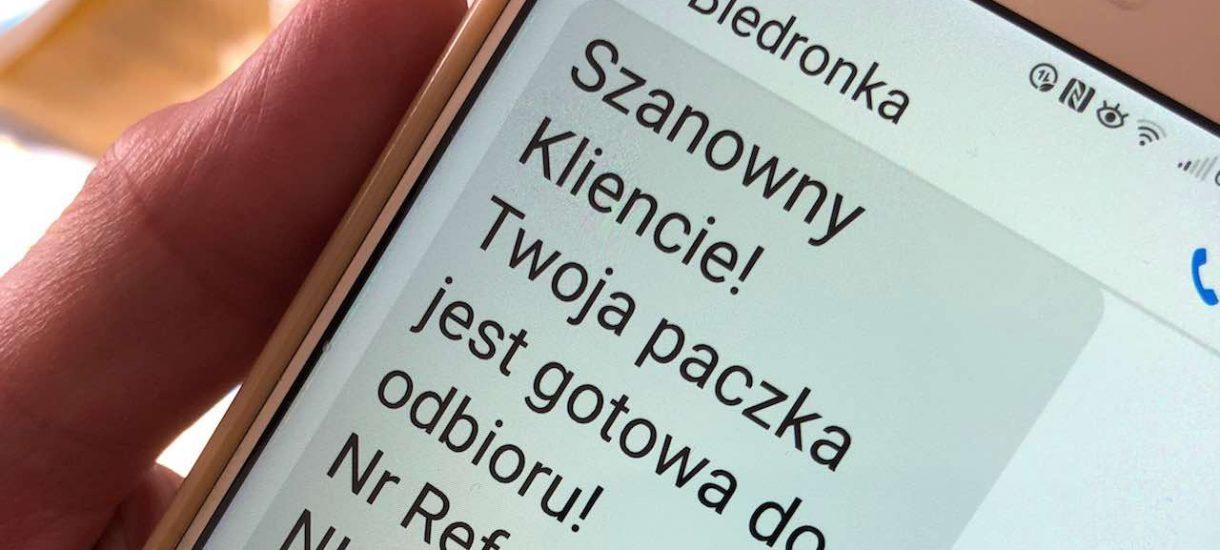 """Dostałeś SMS od Biedronki lub Lidla z informację o """"paczce gotowej do odbioru""""? To oszustwo!"""
