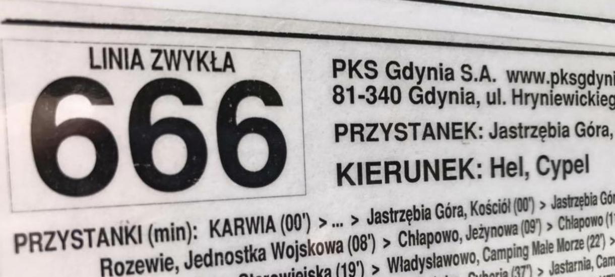 """""""Autobusowa Linia 666 na Hel godzi w chrześcijański porządek państwa polskiego"""""""