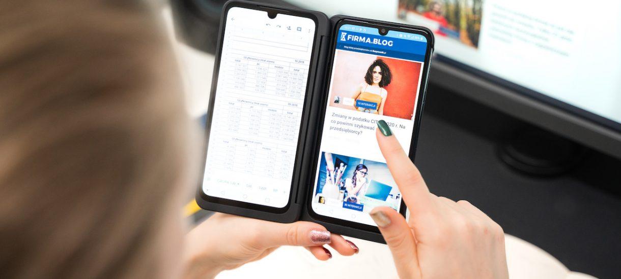 Prowadzę firmę przez laptopa i smartfon, ale to smartfon przynosi 90% dochodu. A gdyby tak miał dwa ekrany?