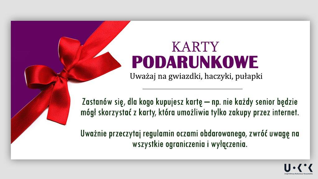 karty podarunkowe na święta