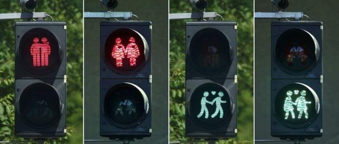 gay traffic light vienna