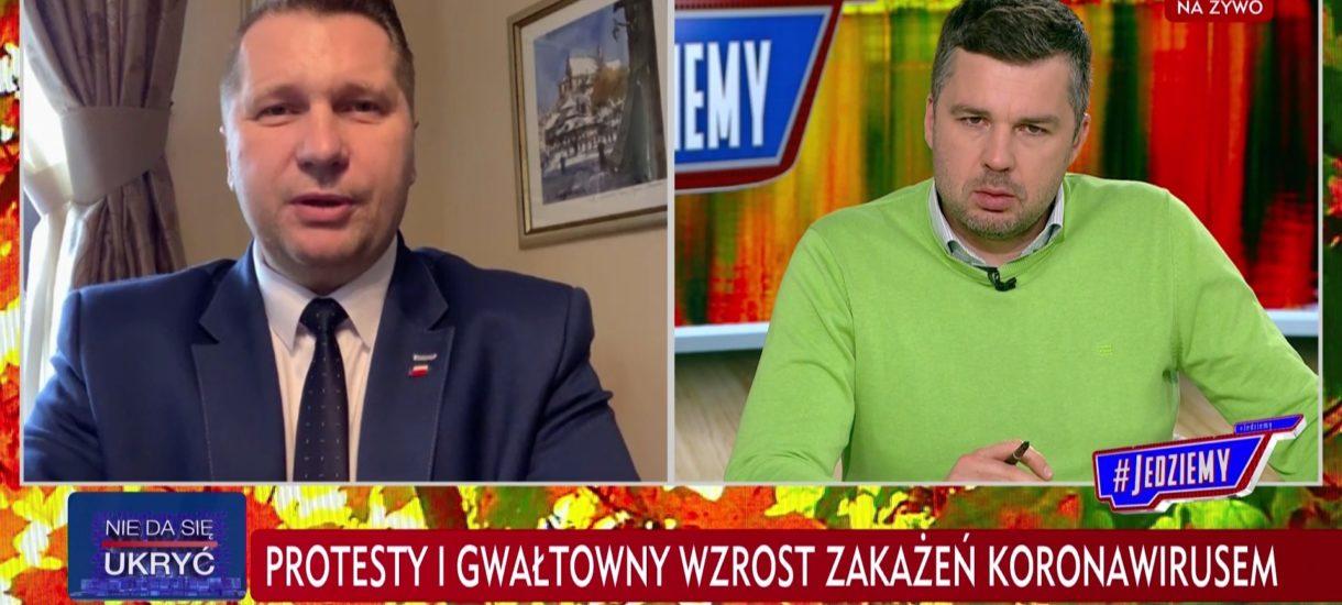 Przemysław Czarnek chce karać uczelnie, które dały studentom wolne na protesty. Na przykład nie da im grantów