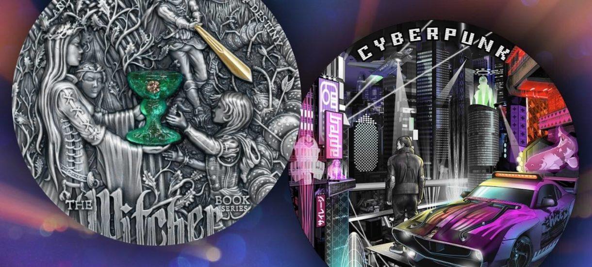 Mennica Gdańska prezentuje monety kolekcjonerskie dla fanów Cyberpunka 2077 i Wiedźmina