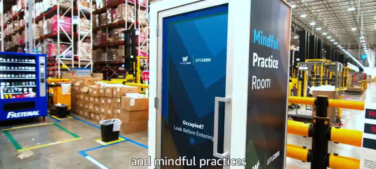 Amazon postawił na środku hali… budkę do rozwijania swojego umysłu. Ktoś ewidentnie przedawkował Black Mirror