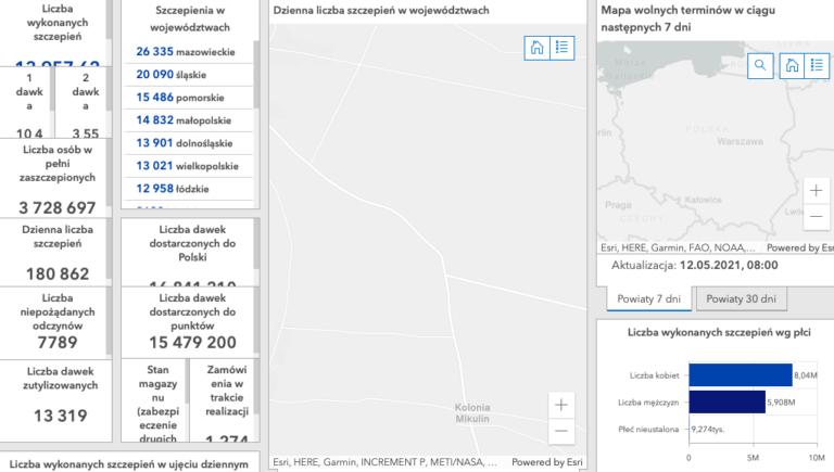 mapa dostępnych terminów szczepień ss