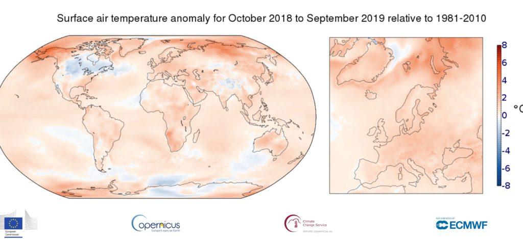 Wyższe temperatury w ujęciu globalnym