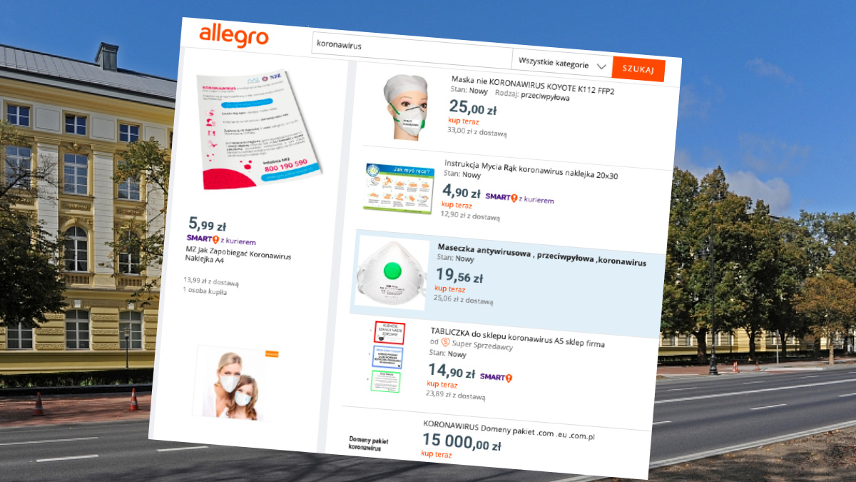 Koronawirus Na Allegro Premier Wprowadzil Zakaz Handlu Artykulami Ochronnymi Na Platformach E Commerce