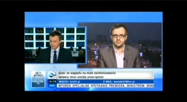 W TVN24 o ACTA
