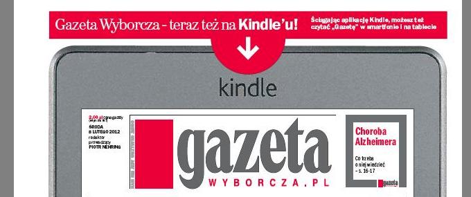 Gazeta Wyborcza na czytniki Kindle: jest ok, ale uwaga na portfel