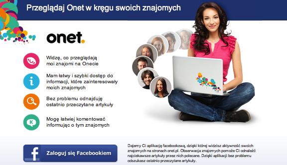 Jutro Onet zintegruje się z Facebookiem na niespotykaną skalę