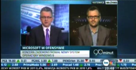 W TVN CNBC na temat Windowsa 8
