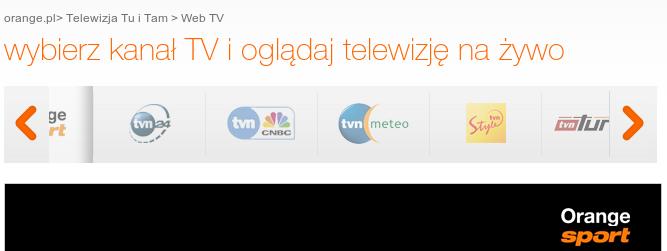 Orange będzie Tu i Tam, czyli kolejna oferta telewizji mobilnej