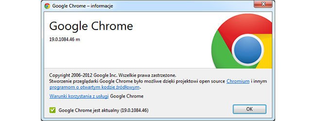 Chrome 19 to twój Chrome. Gdziekolwiek jesteś