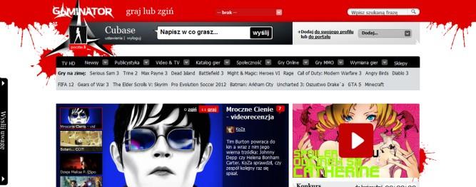 Gaminator.tv – taki Filmweb, tylko o grach