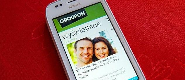 Groupon na smartfonach Nokia Lumia – tu Metro UI przydaje się najbardziej