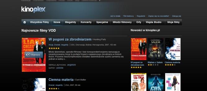 Sprawdzamy serwisy VOD – Kinoplex serwis dla koneserów