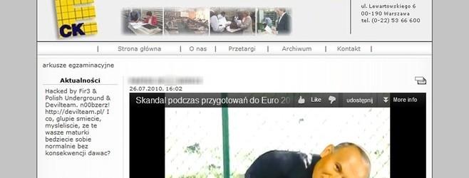 Znamy sprawców włamania na stronę CKE. To użytkownicy Karachana