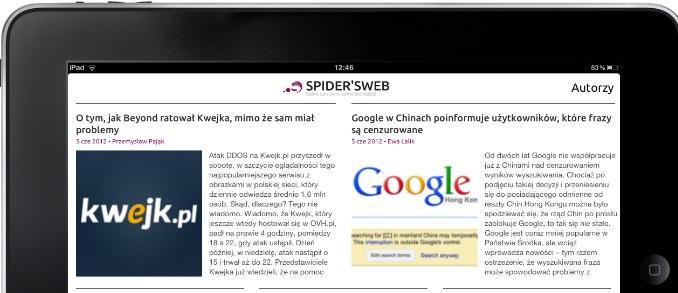 Przygotowujemy aplikację Spider's Web na iPada i potrzebujemy beta-testerów. Ktoś chętny?