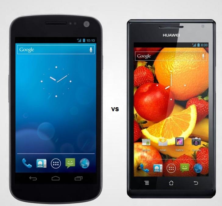 Galaxy Nexus vs Huawei P1