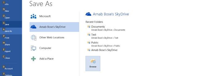 Office 2013 i SkyDrive to jeden, ściśle powiązany ze sobą organizm