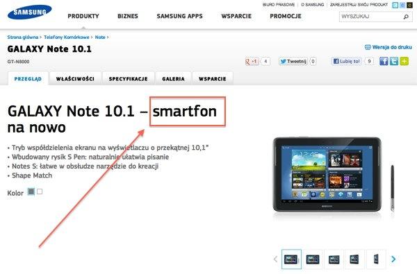 Dla Samsunga jego Galaxy Note 10.1 to… smartfon