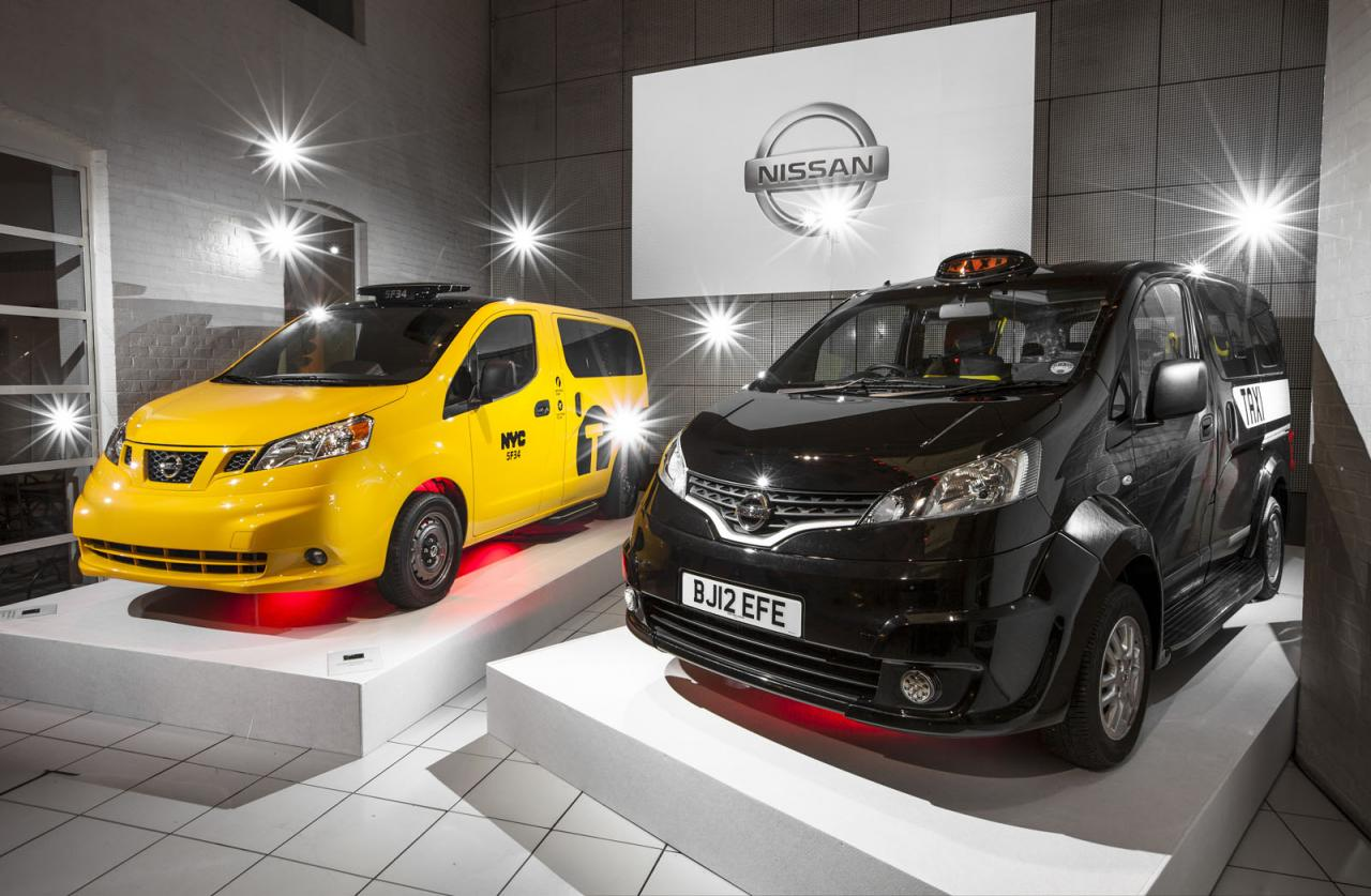 Londyn i Nowy Jork z taksówkami prawie z przyszłości