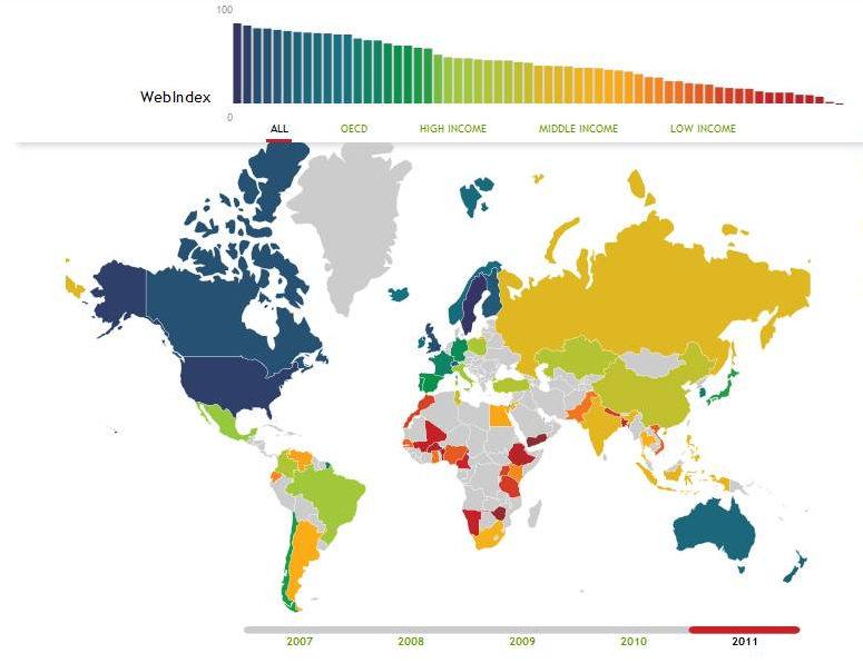 Polska na 25. miejscu na świecie, czyli pierwsza edycja Web Index Fundacji World Wide Web