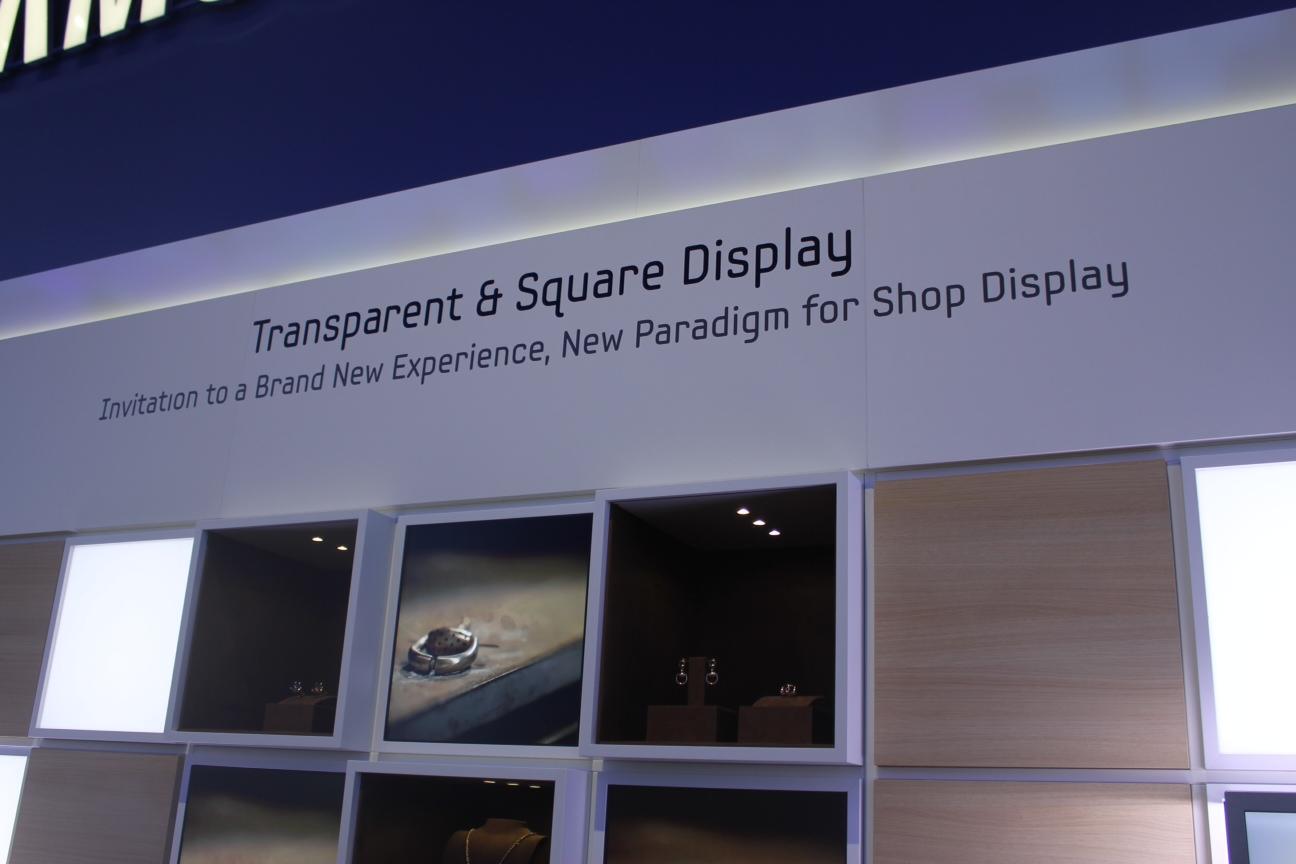 IFA 2012: Przeźroczyste ekrany Samsunga. Zmienią wystawy sklepowe?