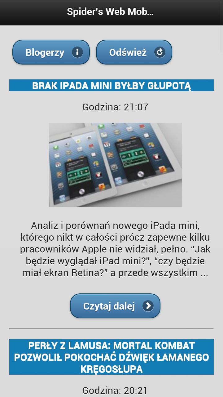 … i Blackberry, Symbian też nie gęsi czyli Mobile Spider's Web cd.