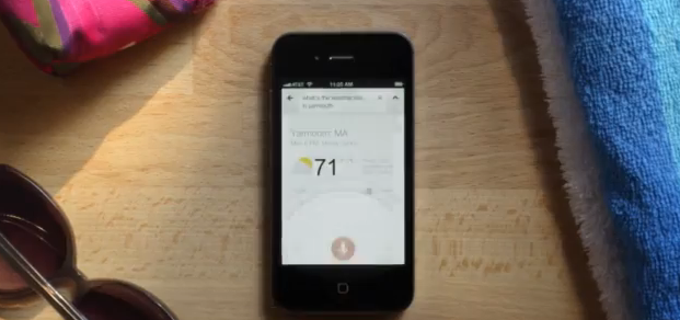 Google Voice Search odpowiada na pytania na iOS
