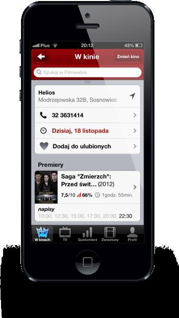 Filmweb iPhone kino