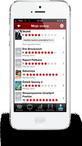 Filmweb iPhone moje oceny