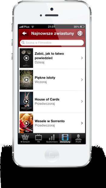 Filmweb iPhone najnowsze zwiastuny