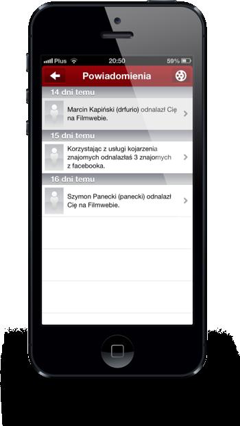 Filmweb iPhone powiadomienia