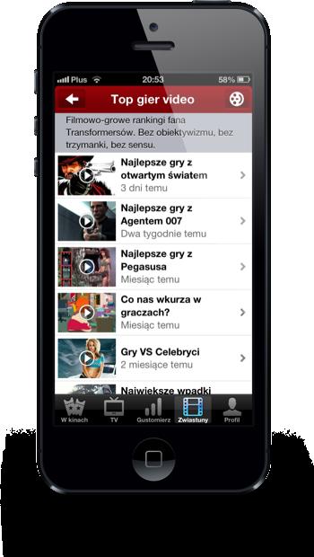 Filmweb iPhone top gier wideo