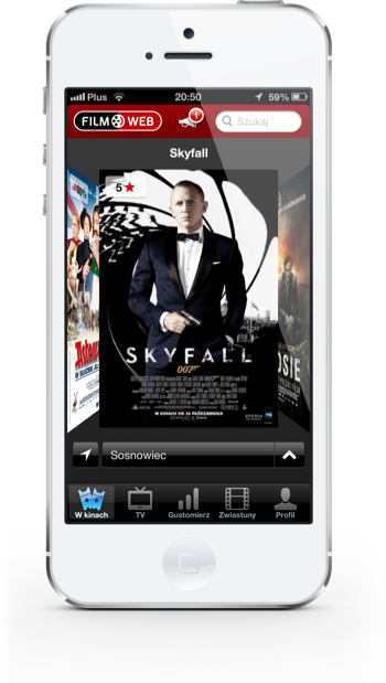 Filmweb iPhone w kinie