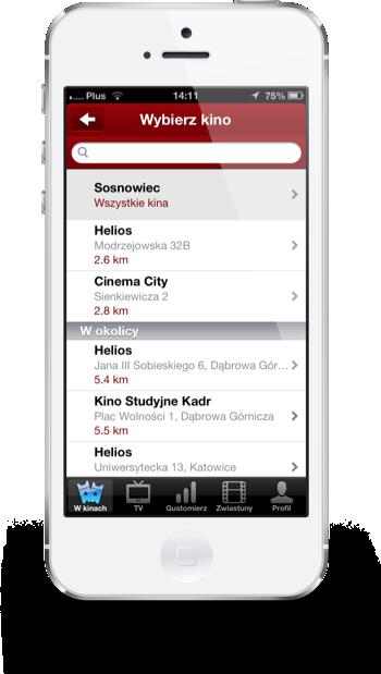 Filmweb iPhone wybór kin