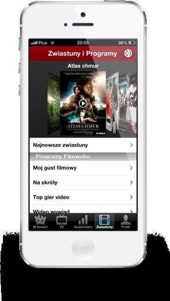 Filmweb iPhone zwiastuny