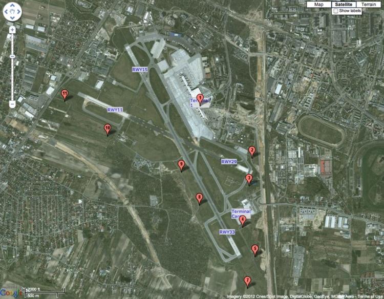 Mapka z sugerowanymi punktami do obserwacji Deamlinera