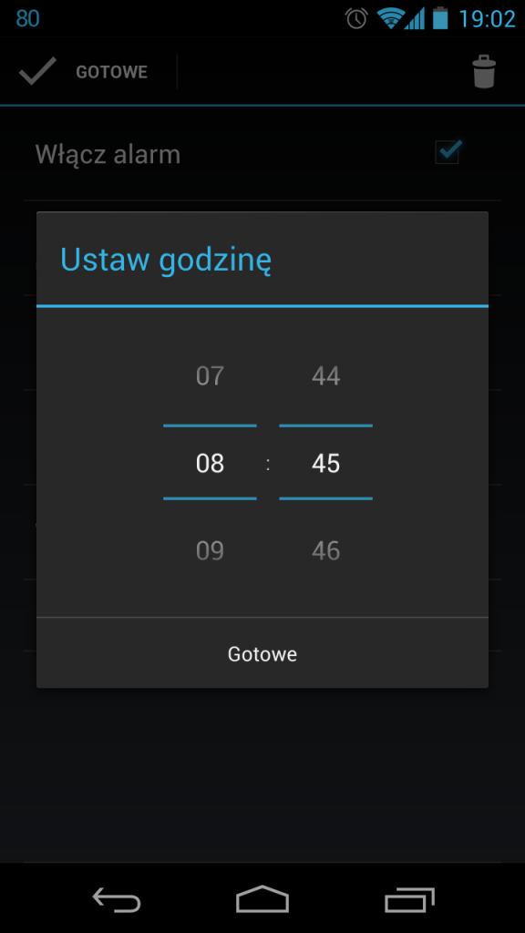 android 4.1 budzik