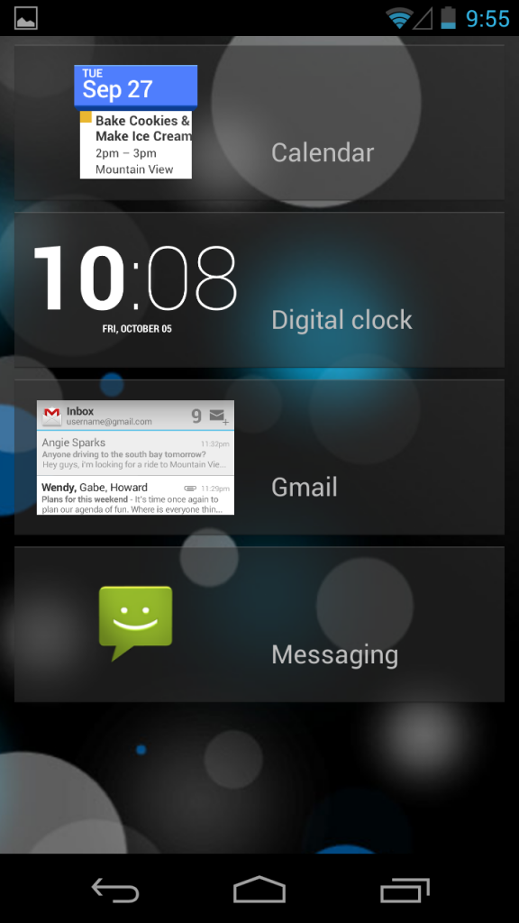 android 4.2 widgety lockscreen