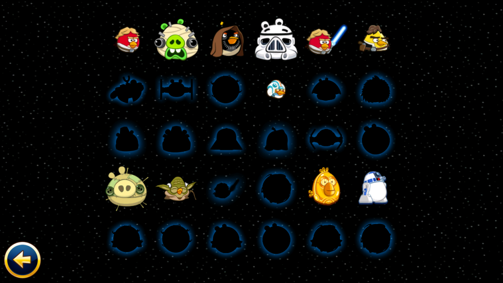 angry birds star wars progress